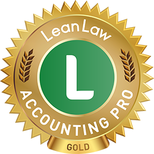 Lean Law Accounting Pro Gold Badge